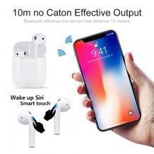 Безжични Bluetooth 5.0 слушалки RD-i18 TWS / In-ear с тъч контрол и безжично зареждане - бели