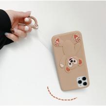 Силиконов калъф / гръб / TPU 3D за Apple iPhone 6 / iPhone 7 / iPhone 8 / iPhone SE2 2020 - Cartoon Duffy Bear / бежов