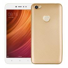 Силиконов калъф / гръб / TPU за Xiaomi RedMi Note 5A Prime - златист / Carbon