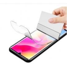 Удароустойчив протектор Full Cover / Nano Flexible Screen Protector с лепило по цялата повърхност за дисплей на Xiaomi Mi Note 10 Lite – черен кант