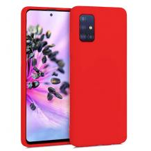 Луксозен силиконов калъф / гръб / Nano TPU за Samsung Galaxy S21 Ultra - червен