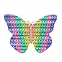 Антистрес Pop it Fidget игра 40cm - пеперуда / дъга