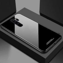 Луксозен стъклен твърд гръб за Xiaomi Redmi 9 - черен