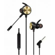 Геймърски стерео слушалки GM-D3 / Gaming Earphones GM-D3 - черни със златисто
