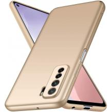 Силиконов калъф / гръб / TPU за Huawei P40 Lite 5G - златист / мат