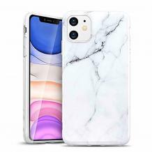"""Луксозен твърд гръб за Apple iPhone 11 Pro Max 6.5"""" - бял / мрамор"""