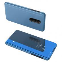 Луксозен калъф Clear View Cover с твърд гръб за Xiaomi Redmi 8 - син
