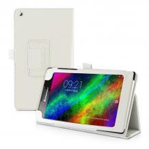 Кожен калъф със стойка за таблет за Lenovo Tab 2 A7-30 / 7''- бял