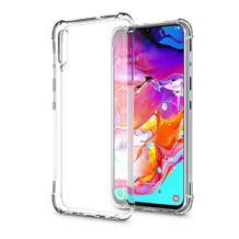Удароустойчив ултра тънък силиконов калъф / гръб / TPU за Samsung Galaxy A70 - прозрачен