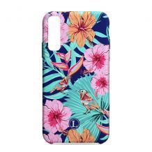Силиконов калъф / гръб / TPU LUXO за Samsung Galaxy A10 -  син / цветя