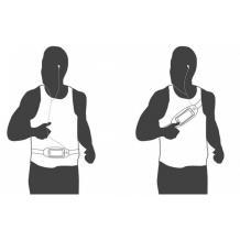 Универсален спортен калъф за кръста за смартфони с дисплей до 6.3 инча - тъмно син