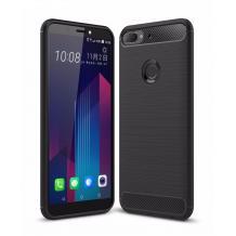 Силиконов калъф / гръб / TPU за HTC Desire 12 Plus - черен / carbon