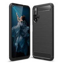 Силиконов калъф / гръб / TPU за Huawei Honor 20 - черен / carbon