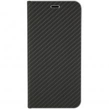 Луксозен кожен калъф Flip тефтер Vennus за Apple iPhone 7 / iPhone 8 - черен / carbon