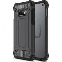 Силиконов гръб TPU Spigen Hybrid с твърда част за Samsung Galaxy S10 - черен