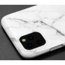 """Луксозен силиконов калъф / гръб / TPU за Apple iPhone 11 Pro 5.8"""" - мрамор / бял"""