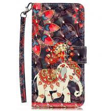 Кожен калъф Flip тефтер Flexi със стойка за Samsung Galaxy A20e - цветен / Phoenix Elephant