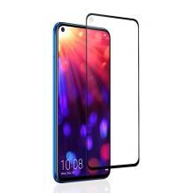3D full cover Tempered glass Full Glue screen protector Huawei Honor View 20 / Извит стъклен скрийн протектор с лепило от вътрешната страна за Huawei Honor View 20 - черен