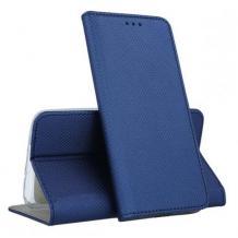 Кожен калъф Magnet Case със стойка за Nokia 7.2 - син