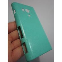 Заден предпазен твърд гръб за Sony Xperia Acro S LT26W - зелен имитиращ кожа