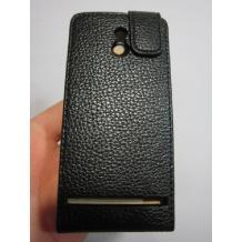Кожен калъф Flip тефтер Presto за Sony Xperia P Lt22i - черен