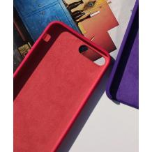 Оригинален гръб Silicone Cover за Apple iPhone 6 / iPhone 6S - тъмно розов