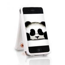 Кожен калъф KASHIDUN Wei Series за Apple iPhone 4 / iPhone 4S - бял