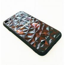 Луксозен твърд гръб 3D за Apple iPhone 7 Plus / iPhone 8 Plus - маймуна / черна призма