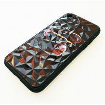Луксозен твърд гръб 3D за Apple iPhone 7 / iPhone 8 - маймуна / черна призма