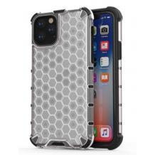 """Луксозен твърд гръб NEST за Apple iPhone 13 Pro Max 6.7""""- прозрачен / черна рамка"""