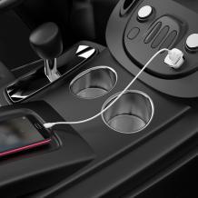 Универсално зарядно за кола / Car Charger 12V BOROFONE Qualcomm 3.0 BZ12A 2A / Micro USB кабел - бяло