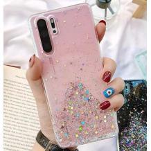 Силиконов калъф / гръб / TPU за Xiaomi Redmi Note 8T - брокат / розов