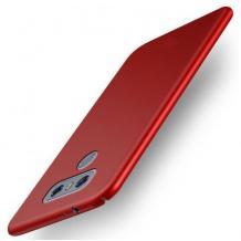 Силиконов калъф / гръб / TPU за LG K40S - червен / мат
