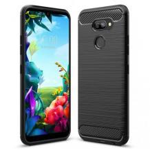 Силиконов калъф / гръб / TPU за LG K50S - черен / carbon