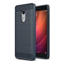 Силиконов калъф / гръб / TPU за Lenovo K6 Note - тъмно син / carbon