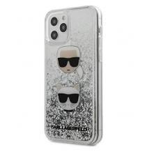 "Оригинален гръб 3D Water Case за Apple iPhone 12 mini 5.4"" - сребрист брокат / KARL LAGERFELD"