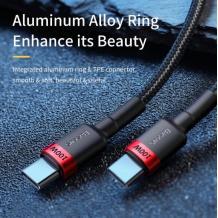 USB кабел BASEUS CAFULE PD Type-C to Type-C, 5A 2m. /черно и червено/