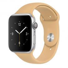 Силиконова каишка за Apple Watch 38 / 40мм - бежова