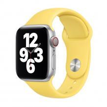 Силиконова каишка за Apple Watch 38мм, 40мм - жълта