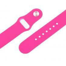 Силиконова каишка за Apple Watch 42 / 44мм - розова