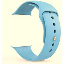 Силиконова каишка за Apple Watch 38мм, 40мм - светло синя