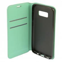 Луксозен кожен калъф Flip тефтер със стойка Baseus Design за Samsung Galaxy Note 8 N950 - мента