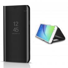 Луксозен калъф Clear View Cover с твърд гръб за Xiaomi Mi Note 10 Lite - черен