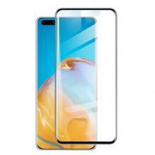 Удароустойчив протектор Full Cover / Nano Flexible Screen Protector с лепило по цялата повърхност за дисплей на Samsung Galaxy S21 Ultra – черна рамка