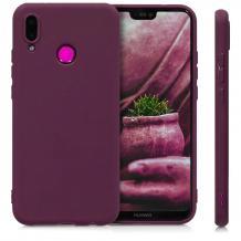 Силиконов калъф / гръб / TPU за Motorola One Vision - лилав / мат