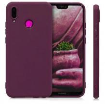 Силиконов калъф / гръб / TPU за Huawei P Smart Z - лилав / мат