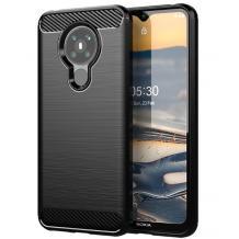 Силиконов калъф / гръб / TPU за Nokia 5.3 - черен / carbon