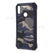 Силиконов калъф / гръб / TPU за Samsung Galaxy A40 - камуфлаж / син