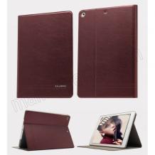 Луксозен кожен калъф KA Series Kalaideng със стойка за Apple iPAD 5 / iPad Air - бордо