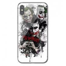 """Луксозен стъклен твърд гръб за Apple iPhone 11 6.1"""" - бял / Joker Face"""